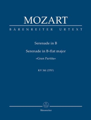 MOZART - Gran Partita B-Dur Serenade KV 361 - Sheet Music - di-arezzo.co.uk