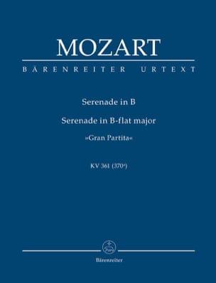 Wolfgang Amadeus Mozart - Serenade Gran Partita B-dur KV 361 - Partition - di-arezzo.fr