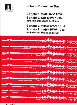 BACH - Sonaten, BWV 1034 e-moll, 1035 E-Dur - Flöte u. Bc - Partition - di-arezzo.fr