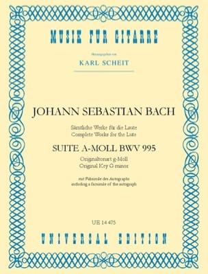 BACH - Suite a-moll BWV 995 - Gitarre - Partitura - di-arezzo.it