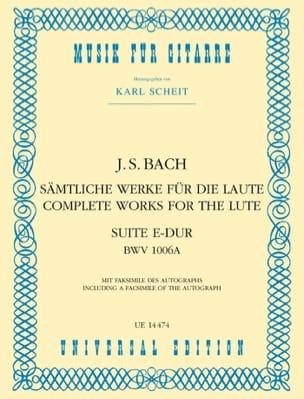 Suite E-Dur BWV 1006A –Gitarre - BACH - Partition - laflutedepan.com