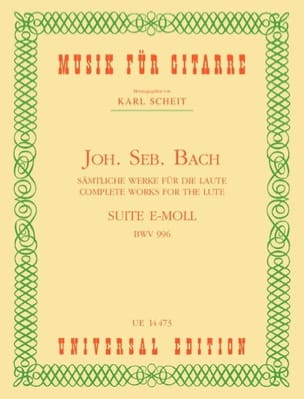 BACH - E-Moll BWV 996 Suite - Guitar - Partition - di-arezzo.co.uk