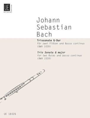 Triosonate G-Dur BWV 1039 - 2 Flöten Bc BACH Partition laflutedepan