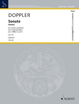 Franz Doppler - Sonate, Opus 25 - 2 Flutes and Piano - Sheet Music - di-arezzo.co.uk