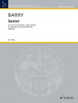 Sextuor - Conducteur Gerald Barry Partition laflutedepan
