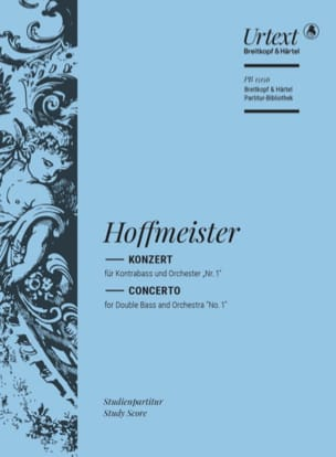 Franz Anton Hoffmeister - Concerto for Double Bass n ° 1 - Sheet Music - di-arezzo.com