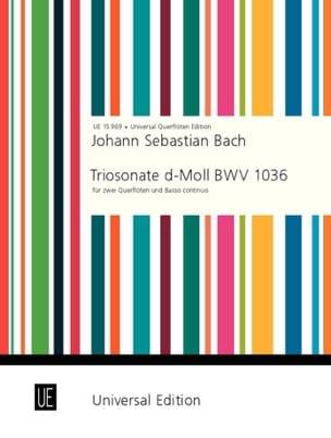 Triosonate d-moll Ré Min. - 2 Flöten - BC BACH Partition laflutedepan