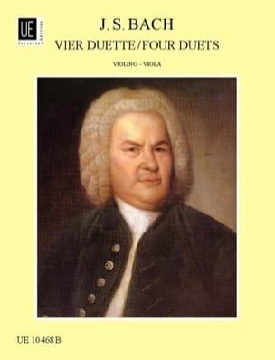 Johann Sebastian Bach - 4 Duette für Violine und Viola - Partition - di-arezzo.fr