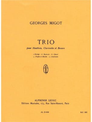 Georges Migot - Trio - oboe, clarinet, bassoon - Conductor - Sheet Music - di-arezzo.co.uk