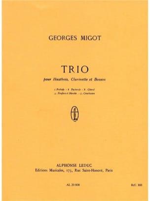 Georges Migot - Trio - oboe, clarinet, bassoon - Conductor - Sheet Music - di-arezzo.co.uk
