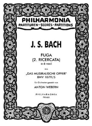 Bach Johann Sebastian / Webern Anton - Fuga (2. Ricercata) – Partitur - Partition - di-arezzo.fr