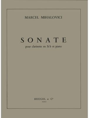Sonate op. 78 Marcel Mihalovici Partition Clarinette - laflutedepan