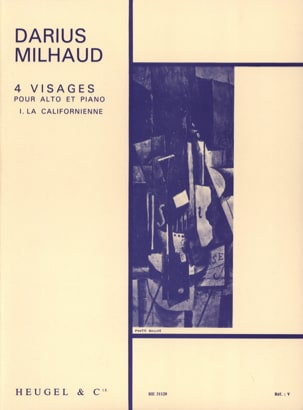 Darius Milhaud - 4 Visages - N° 1 la Californienne - Partition - di-arezzo.fr