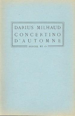 Darius Milhaud - Autumn Concertino - Director - Partition - di-arezzo.es