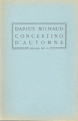 Darius Milhaud - Autumn Concertino - Conductor - Partition - di-arezzo.it
