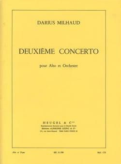 Concerto Alto n° 2 MILHAUD Partition Alto - laflutedepan