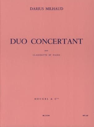 Darius Milhaud - Duo Concertant - Partition - di-arezzo.fr