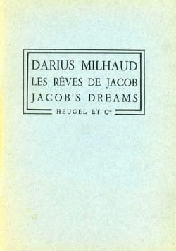 Darius Milhaud - Les Rêves de Jacob – Partition + Parties - Partition - di-arezzo.fr