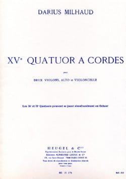 Quatuor à cordes n° 15 - Parties MILHAUD Partition laflutedepan