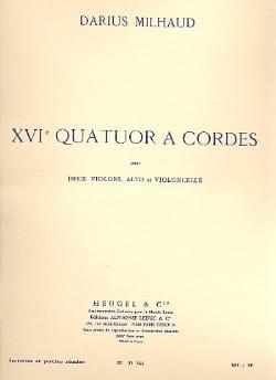 Quatuor à cordes n° 16 - Parties + Conducteur MILHAUD laflutedepan