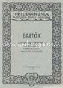 Quatuor à cordes N°2 Opus 17 BARTOK Partition laflutedepan