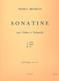 Darius Milhaud - Sonatine - Partition - di-arezzo.fr