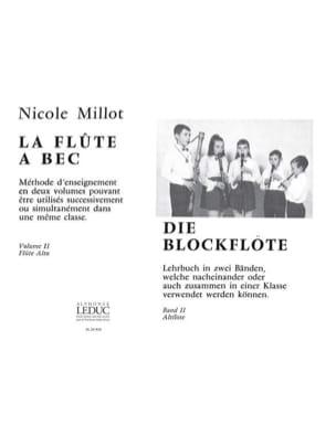 Nicole Millot - El Grabador - Volumen 2 - Flauta Alto - Partitura - di-arezzo.es