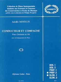 Conducteur Et Compagne Adolfo Mindlin Partition laflutedepan
