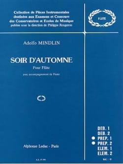 Adolfo Mindlin - Soir d'automne - Partition - di-arezzo.fr
