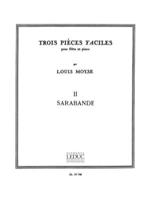 3 Pièces faciles : 2. Sarabande Louis Moyse Partition laflutedepan