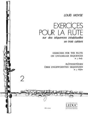 Exercices pour la flûte - Volume 2 Louis Moyse Partition laflutedepan