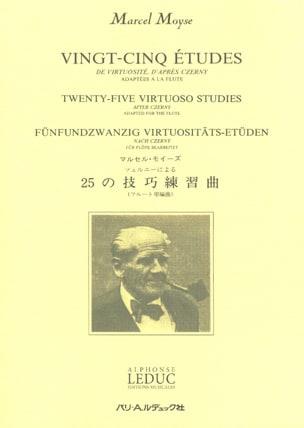 Moyse Marcel / Czerny Carl - 25 Etudes de virtuosité - Flûte - Partition - di-arezzo.fr