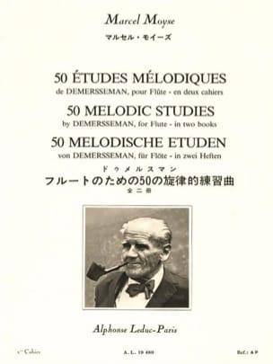 Demersseman Jules / Moyse Marcel - 50 Etudes Mélodiques Volume 1 - Partition - di-arezzo.fr