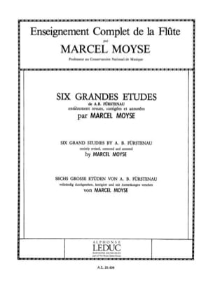 6 Grandes études Fürstenau Anton Bernhard / Moyse Marcel laflutedepan
