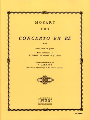 Concerto ré majeur KV 314 - Flûte piano MOZART Partition laflutedepan