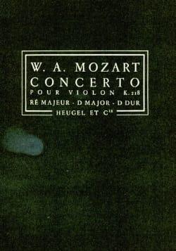Concerto Violon KV 218 D-Dur - Conducteur - MOZART - laflutedepan.com