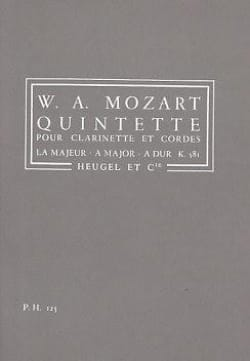 MOZART - Clarinet Quintet and strings KV 581 - Conductor - Sheet Music - di-arezzo.co.uk