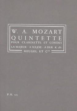 MOZART - Clarinet Quintet and strings KV 581 - Conductor - Sheet Music - di-arezzo.com