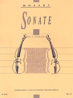 Wolfgang Amadeus Mozart - Sonate – 2 Violoncelles - Partition - di-arezzo.fr