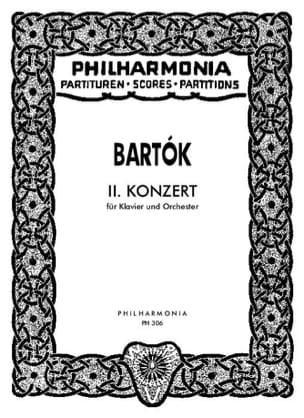 BARTOK - Piano Concerto No. 2 - Score - Partition - di-arezzo.co.uk