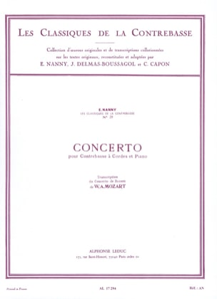 MOZART - Bass Concerto Transcribed from Bassoon - Sheet Music - di-arezzo.co.uk