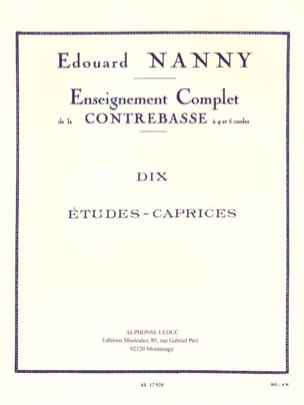 Edouard Nanny - 10 Studies-Caprices - Double Bass - Sheet Music - di-arezzo.co.uk