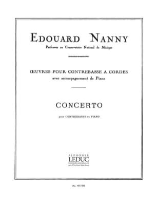 Edouard Nanny - Concerto - Double bass - Sheet Music - di-arezzo.co.uk