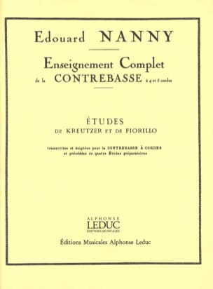 Edouard Nanny - Kreutzer e Fiorillo Studies - Double Bass - Partitura - di-arezzo.it