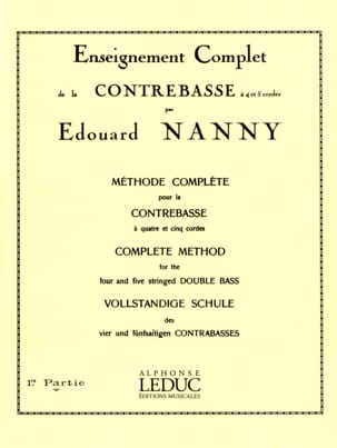 Edouard Nanny - Complete Method Of Double Bass Volume 1 - Partition - di-arezzo.co.uk