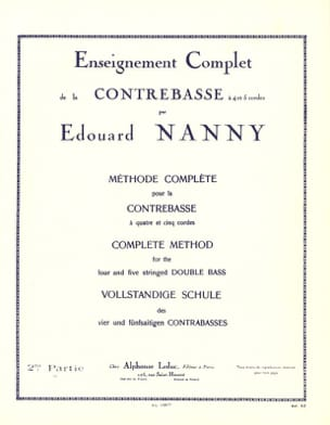 Edouard Nanny - Complete Method of Double Bass Volume 2 - Sheet Music - di-arezzo.co.uk