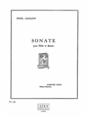 Noël-Gallon - Sonata - Flute and bassoon - Sheet Music - di-arezzo.com