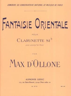 Max d' Ollone - Fantaisie orientale - Partition - di-arezzo.fr
