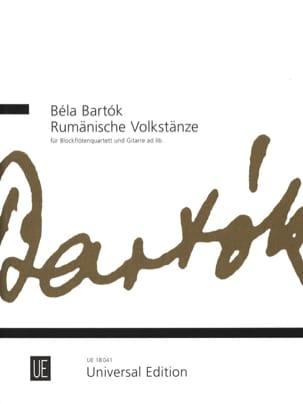 Rumänische Volkstänze - Béla Bartók - Partition - laflutedepan.com