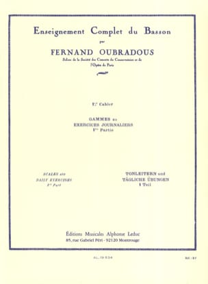 Fernand Oubradous - Complete Bassoon Teaching - Volume 1 - Sheet Music - di-arezzo.com